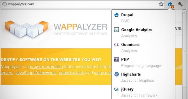 Chromeの定番拡張機能「このホームページ、どんな技術を使ってる?」