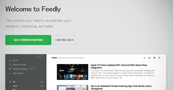 WEBディレクターはFeedlyを使ってRSSを縦横無尽に読みこなす