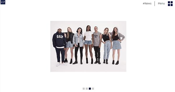 最後に紹介するのはファッションブランド『Gap』です。
